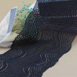 Laço elástico de nylon Triming do estiramento para roupa interiores e roupa interior