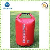 La double courroie folâtre le sac sec de sac à dos imperméable à l'eau de PVC de maille (JP-WB021)