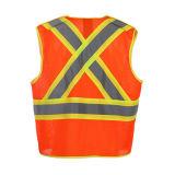 Veste elevada da segurança da visibilidade do estilo quente de Canadá da venda
