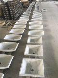 Lavabo a forma di della stanza da bagno della mobilia della cucina del petalo di marmo bianco del triangolo di Carrara