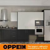 Gabinete de cocina del negro del laminado de la alta presión de Kenia (OP15-HPL05)