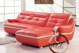 Sofa sectionnel en cuir de salle de séjour