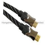 De hoge snelheid HDMI Kable 1.4V met Nylon Koker, steunt 3D