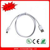 USB 2.0 een Mannetje aan Micro- 5p Last en de Kabel van de Overdracht van Gegevens