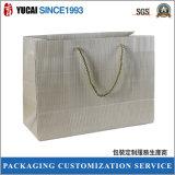 Bolso de compras pesado de lujo del papel de la capa
