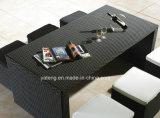 La mobilia esterna del rattan del giardino di disegno popolare poco costoso che pranza la barra stabilita ha impostato con le feci e la Tabella da 6-10person (YT187)