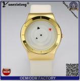 Dos relógios de pulso ocasionais luxuosos clássicos creativos minimalistas da forma da parte superior do tipo da cinta de couro dos homens Yxl-834 relógio de pulso impermeável de quartzo de Relogio