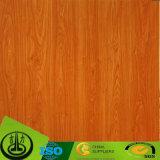 Papel decorativo da grão de madeira para a madeira compensada