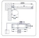 Дверь Controler алюминиевого сплава конструкций безопасности популярная (DS-AA78)