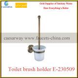 Support en verre simple antique en bronze d'articles d'accessoires sanitaires de salle de bains