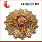 O emblema relativo à promoção o mais atrasado do ouro da antiguidade do metal