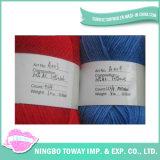 fio de lãs acrílico de confeção de malhas azul vermelho da mistura de 9s/4 12s/4
