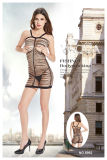 Ladies Sexy Intimates Open Cup Fishnet & Lace Babydoll 8992
