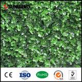 Valla de jardín al aire libre decoración de la hoja de la hierba artificial verde