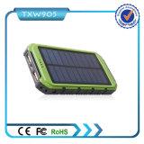 Banco portátil alternativo externo duplo da potência do banco 10000mAh da potência solar de carregador de bateria do USB para o telefone de pilha