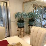 Étagères modernes de Flowerpot de marbre d'étagère de fleur de meubles d'acier inoxydable de club d'hôtel