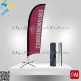 La publicité du drapeau de vol de tissu de polyester pour l'exposition