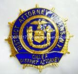 金属の警察は取り外し可能な硬貨クリップ背部によって記章を付ける