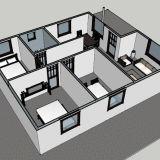 Camera d'acciaio chiara della villa di alta qualità per la casa vivente