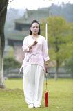 Одеяние способа отдыха хиа Tai льна лета женщин высокосортной Short-Sleeved покрашенное рукой
