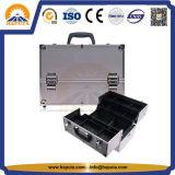 Silberne Schönheits-kosmetischer Fall mit Aluminiumrahmen (HB-1201)