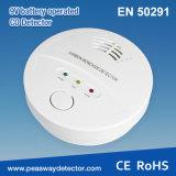 Alarma con pilas del Co del detector de monóxido de carbono de Peasway 9V con la certificación En50291 (PW-918W)