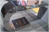 Tabella pranzante della base Ss304 con la parte superiore del vetro temperato
