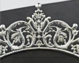 De Koningin van de Kroon van de bloem van de Barokke Kroon van de Tiara van de Bruid van de Prinses van de Toebehoren van het Haar van het Bergkristal van de Kroon van Juwelen (de kroon van Ta-002 bloem)