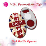 2 multifunzionali in 1 Function Beer Bottle Opener Metal Plate Promotion Gift