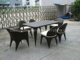 Conjunto de cena al aire libre de la rota al aire libre de los muebles del ocio