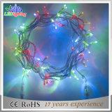 Luz colorida da corda do diodo emissor de luz do fio transparente impermeável da decoração do Natal