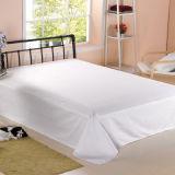 ホテルのベッドの羽毛布団カバー(DPF1046)のための白い寝具シートセット