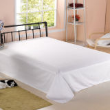 Conjunto de lençóis de cama branca para coberturas de edredon de cama de hotel (DPF1046)