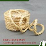 corda bianca naturale del sisal di 10mm fatta dalla fibra naturale del sisal di 100%