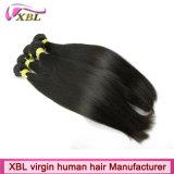 Prolongation péruvienne de cheveux humains de fabricant de cheveux de Xbl