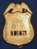 Divisa del metal con la divisa de la policía de la insignia 3D