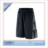 Shorts neri di gioco del calcio dei pantaloni di compressione del Mens con il disegno di modo