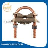 Braçadeira quadrada de cobre da fita para a proteção de relâmpago de sobreposição da terra das fitas