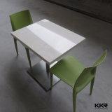 شعبية تصميم 4 ذوات مقاعد الاصطناعي حجر الاكريليك الصلبة السطح مائدة الطعام