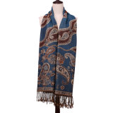 sciarpa normale blu di inverno di modo di 100%Polyester Pashmina per la signora