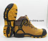 Género de los hombres y zapatos de seguridad de cuero materiales superiores del cuero genuino