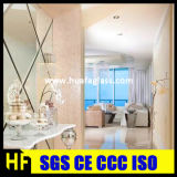 Floatglas-Silber-Spiegel-Badezimmer-Silber-Spiegel Frameless Blatt