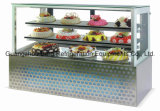 Glasses Tempered Cake Chiller con Ce con Backside Slide Glass Door
