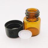 1/4 D-RAM Amber Tubular Glass Vial mit pp. Cap u. Orifice Reducer