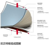 Ricos nos painéis de parede de madeira exteriores do material da mobília das cores HPL