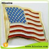 の製造は米国旗の折りえりPin MOQ車の折りえりカスタムドミノのピザ折りえりPinのバッジをピンで止めない