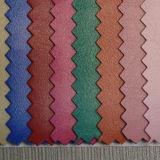 Cuero de cuero de la PU de la tela del Faux para el calzado (HST056)