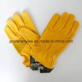 Handschoen van de Bestuurder van het Leer van de koe de Gespleten