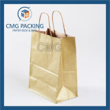 Bolsa de papel Kraft Brown con papel de abrigo