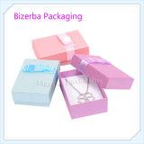 Caixa de empacotamento do presente feito sob encomenda do papel da jóia